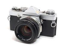 Vecchie macchine fotografiche della pellicola fotografia stock libera da diritti