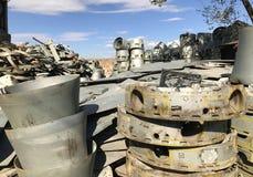 Vecchie macchine & parti di metallo sovietiche Fotografie Stock Libere da Diritti