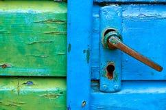 Vecchie maniglie di portello Fotografia Stock