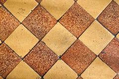 Vecchie mattonelle. Immagini Stock