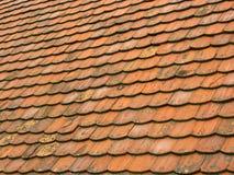 Vecchie mattonelle di tetto 1 Fotografie Stock Libere da Diritti