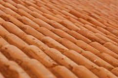 Vecchie mattonelle di tetto Fotografie Stock Libere da Diritti