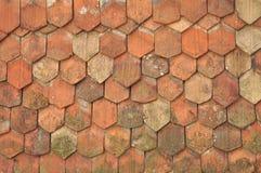 Vecchie mattonelle di tetto Immagine Stock Libera da Diritti
