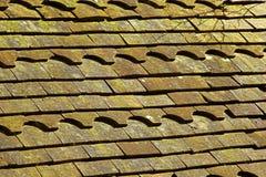 Vecchie mattonelle di tetto Fotografie Stock
