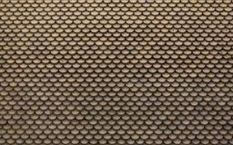 Vecchie mattonelle di tetto arancio del mattone Fotografia Stock Libera da Diritti