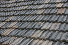 Vecchie mattonelle di tetto della Cina Fotografia Stock Libera da Diritti