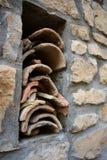 Vecchie mattonelle di tetto della Spagna fotografia stock