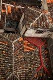Vecchie mattonelle di tetto mediterranee Fotografia Stock