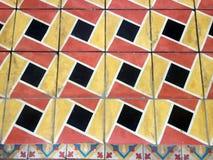 Vecchie mattonelle geometriche Immagini Stock Libere da Diritti
