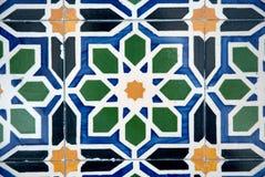Vecchie mattonelle tipiche ornamentali Fotografie Stock
