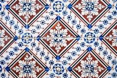 Vecchie mattonelle tipiche ornamentali Fotografia Stock