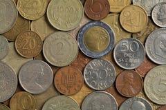 Vecchie monete Fotografia Stock Libera da Diritti