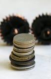 Vecchie monete Fotografie Stock Libere da Diritti