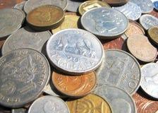 Vecchie monete Fotografie Stock