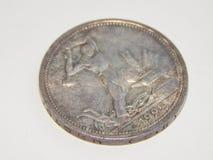 Vecchie monete d'argento dei kopeks 1925 dell'URSS 50 Fotografia Stock