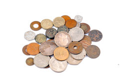 Vecchie monete dell'annata Fotografia Stock