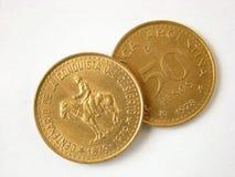 Vecchie monete dell'Argentina Fotografie Stock Libere da Diritti
