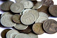 Vecchie monete dell'URSS Fotografie Stock