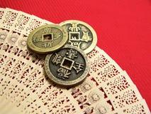 Vecchie monete della Cina Immagine Stock