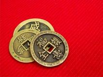 Vecchie monete della Cina Fotografie Stock