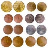 Vecchie monete differenti della Germania Immagini Stock