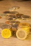 Vecchie monete impilate Fotografia Stock Libera da Diritti
