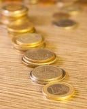 Vecchie monete impilate Immagine Stock Libera da Diritti