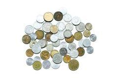 Vecchie, monete invalide dai paesi europei differenti fotografia stock libera da diritti