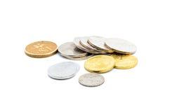 Vecchie monete malesi del Sen Immagine Stock Libera da Diritti