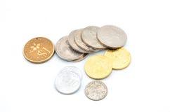 Vecchie monete malesi del Sen Fotografia Stock Libera da Diritti