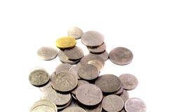 Vecchie monete malesi del Sen Fotografia Stock