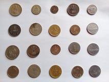 Vecchie monete numismatiche del paese asiatico illustrazione di stock