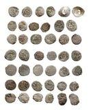 Vecchie monete turche e tartare medioevali Fotografie Stock Libere da Diritti