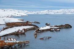 Vecchie navi incavate Fotografia Stock
