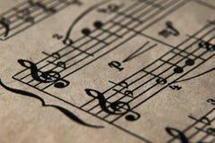 Vecchie note di musica Immagine Stock