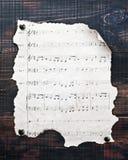 Vecchie note musicali Fotografia Stock Libera da Diritti