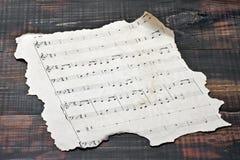Vecchie note musicali Fotografia Stock