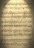 Vecchie note musicali Fotografie Stock Libere da Diritti