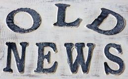 Vecchie notizie Immagini Stock Libere da Diritti