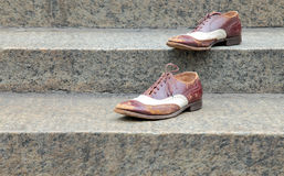 Scarpe sui punti Fotografia Stock