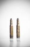 Vecchie pallottole della mitragliatrice Fotografie Stock