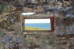 Vecchie parete e finestra Fotografie Stock Libere da Diritti