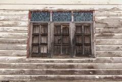 Vecchie parete e finestra Immagine Stock