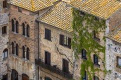 Vecchie pareti delle case della Toscana a Siena Fotografia Stock Libera da Diritti