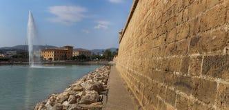 Vecchie pareti difensive in Palma di Maiorca Immagini Stock Libere da Diritti
