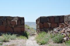 Vecchie pareti in Erebuni Fotografie Stock Libere da Diritti
