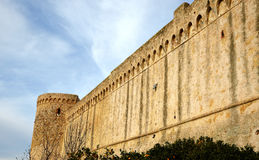 Vecchie pareti toscane Immagini Stock