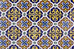 Vecchie piastrelle di ceramica spagnole Fotografia Stock Libera da Diritti