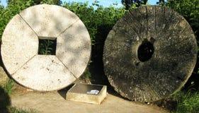 Vecchie pietre del mulino Immagine Stock Libera da Diritti