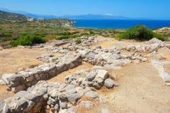 Vecchie pietre di Gournia Crete, Grecia Immagine Stock